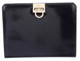 Salvatore Ferragamo Gancio Smooth Leather Shoulder Bag