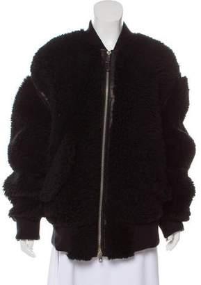 Diesel Black Gold Shearling Leather-Trimmed Jacket