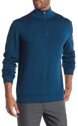 Bugatchi Funnel Neck Half Zip Virgin Wool Sweater