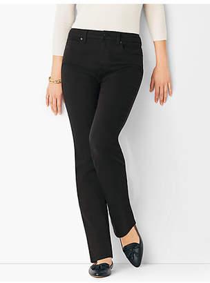 Talbots High-Rise Straight-Leg Jeans - Never-Fade Black
