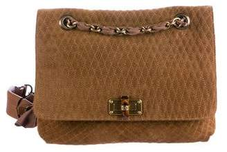 Lanvin Quilted Suede Happy Bag