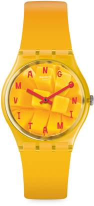 Swatch Energy Boost Silicone-Strap Analogue Watch