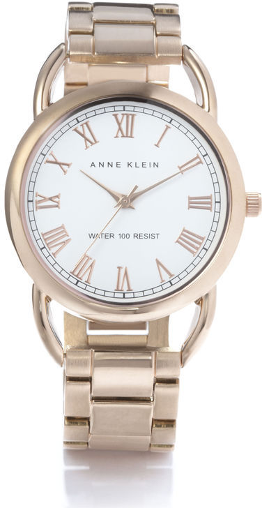Anne Klein Rose Goldtone Bracelet Watch
