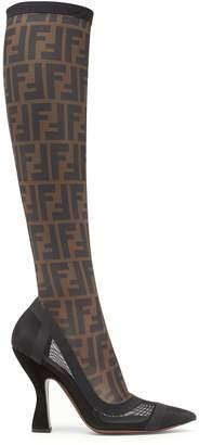 Fendi Ff Mesh Colibri Boots