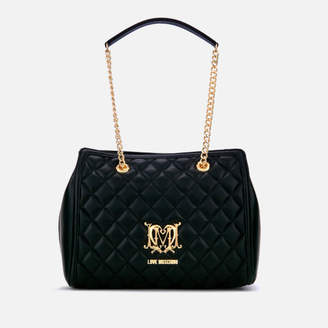 Love Moschino Women's Quilted Medium Tote Bag - Black