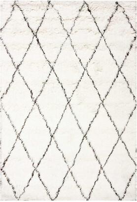 nuLoom Marrakech Shag Hand Tufted Wool Transitional Rug