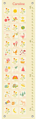 Oopsy Daisy Fine Art For Kids Everything ABC by Finny and Zook Personalized Growth Chart