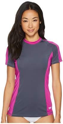 Speedo Solid Short Sleeve Rashguard Women's Swimwear