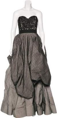 Oscar de la Renta Embellished Tulle Gown w/ Tags