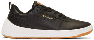 5420eee07e78 Champion Reverse Weave Black Leather Super C Court Classic Sneakers