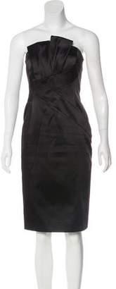 Michael Kors Strapless Satin Dress