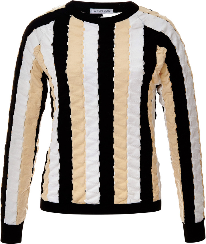J.W.Anderson Paneled Striped Knit Top