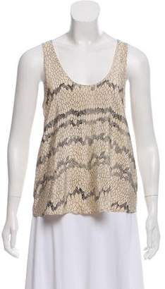 Twelfth Street By Cynthia Vincent Silk Printed Top