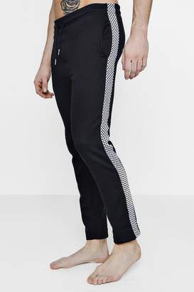 boohoo Straight Leg Lounge Pant With Checkerboard