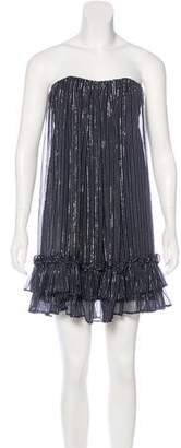 Jay Ahr Silk Metallic Dress