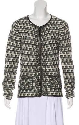 Oscar de la Renta Chain-Accented Tweed Jacket w/ Tags