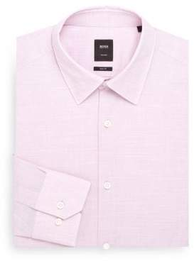BOSS Regular-Fit Textured Dress Shirt