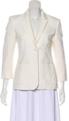 The Row Textured Long Sleeve Blazer