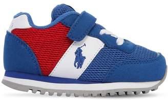 Ralph Lauren Mesh & Faux Suede Sneakers