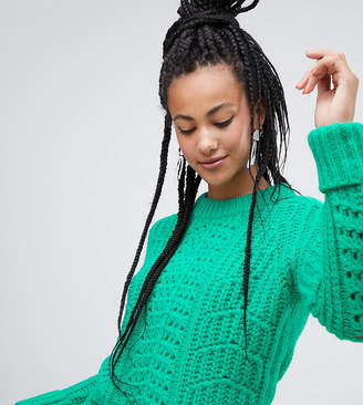 Esprit chunky textured jumper in green