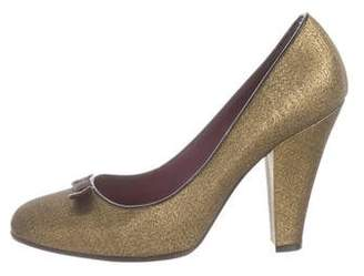 Marc Jacobs Metallic Canvas Pumps