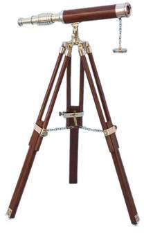 Handcrafted Nautical Decor Floor Standing Harbor Master Decorative Telescope