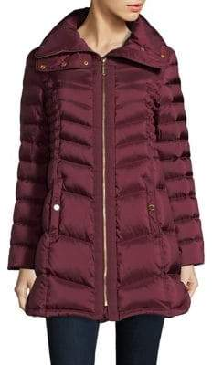 Ellen Tracy Zip Front Down Coat