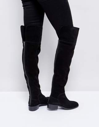 Asos DESIGN KORE Suede Over The Knee Boots