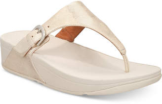 FitFlop Skinny Toe-Thong Wedge Sandals Women's Shoes