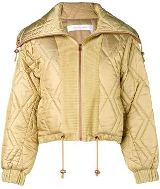 See by Chloe quilted satin bomber jacket