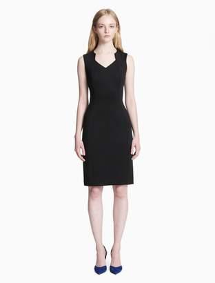 Calvin Klein v-neck sleeveless sheath dress