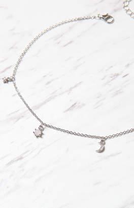 La Hearts Single Layer Star & Moon Necklace