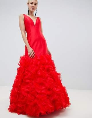 Jovani 3d Fishtail Maxi Dress