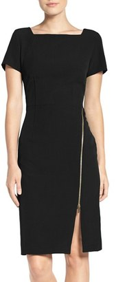 Women's Julia Jordan Side Zip Sheath Dress $148 thestylecure.com