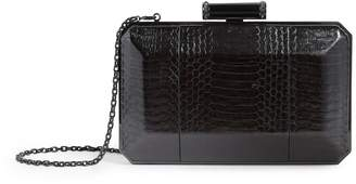 Judith Leiber Leather Snake-Embossed Soho Clutch Bag