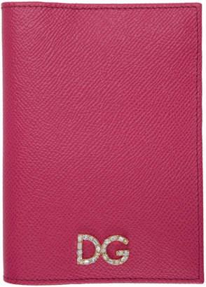 Dolce & Gabbana (ドルチェ & ガッバーナ) - Dolce And Gabbana Dolce and Gabbana ピンク クリスタル パスポート ホルダー