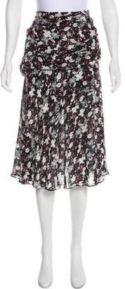Veronica Beard Silk Printed Skirt