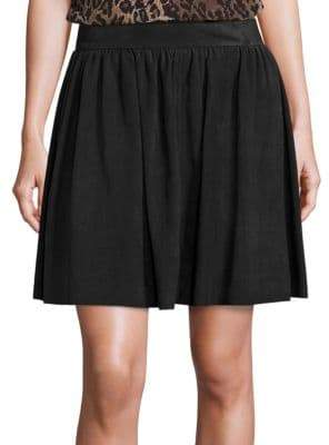 Saks Fifth Avenue COLLECTION Suede A-Line Skirt