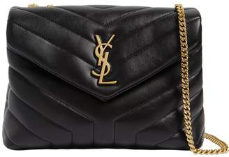 Saint Laurent Small Lulu Monogram Quilted Leather Bag