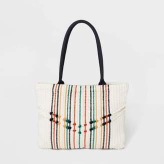 Universal Thread Striped Handloom Shopper Tote Handbag
