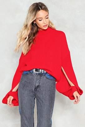 Nasty Gal Every Little Split Helps Oversized Sweater