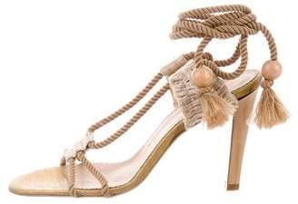 Stella McCartney Metallic Lace-Up Sandals w/ Tags