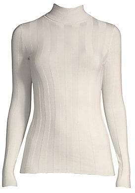 Derek Lam Women's Wide-Rib Turtleneck Sweater