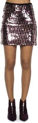 McQ Pink Multi Short Sequined Skirt
