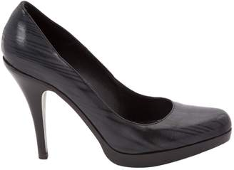 HUGO BOSS Anthracite Leather Heels