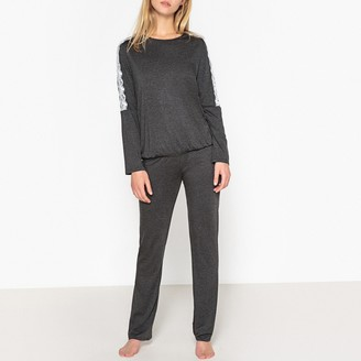 Le Chat Olala Long-Sleeved Pyjamas with Lacy Trim