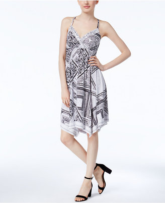 INC International Concepts Handkerchief-Hem Fit & Flare Dress, Only at Macy's $89.50 thestylecure.com