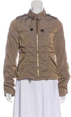 Burberry Pleated Zip-Up Casual Jacket