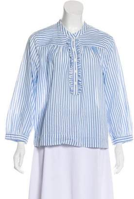 Xirena Stripe Ruffle Trim Top w/ Tags