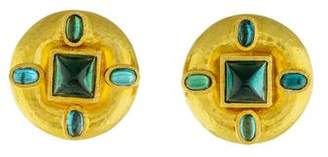 Elizabeth Locke 18K Tourmaline Earclip Earrings